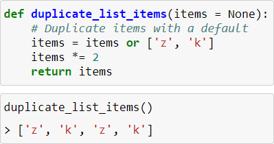 Default parameters using Lists in Python